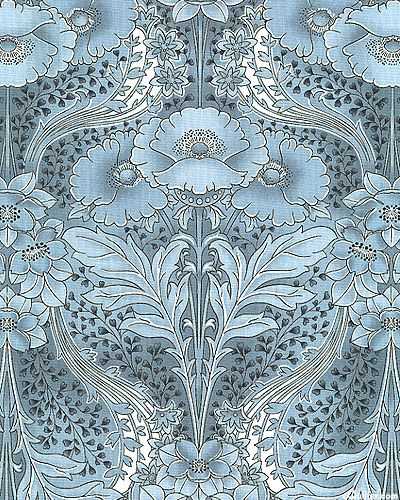 Poppy Symmetry In Antique Blue This Striking Large Scale
