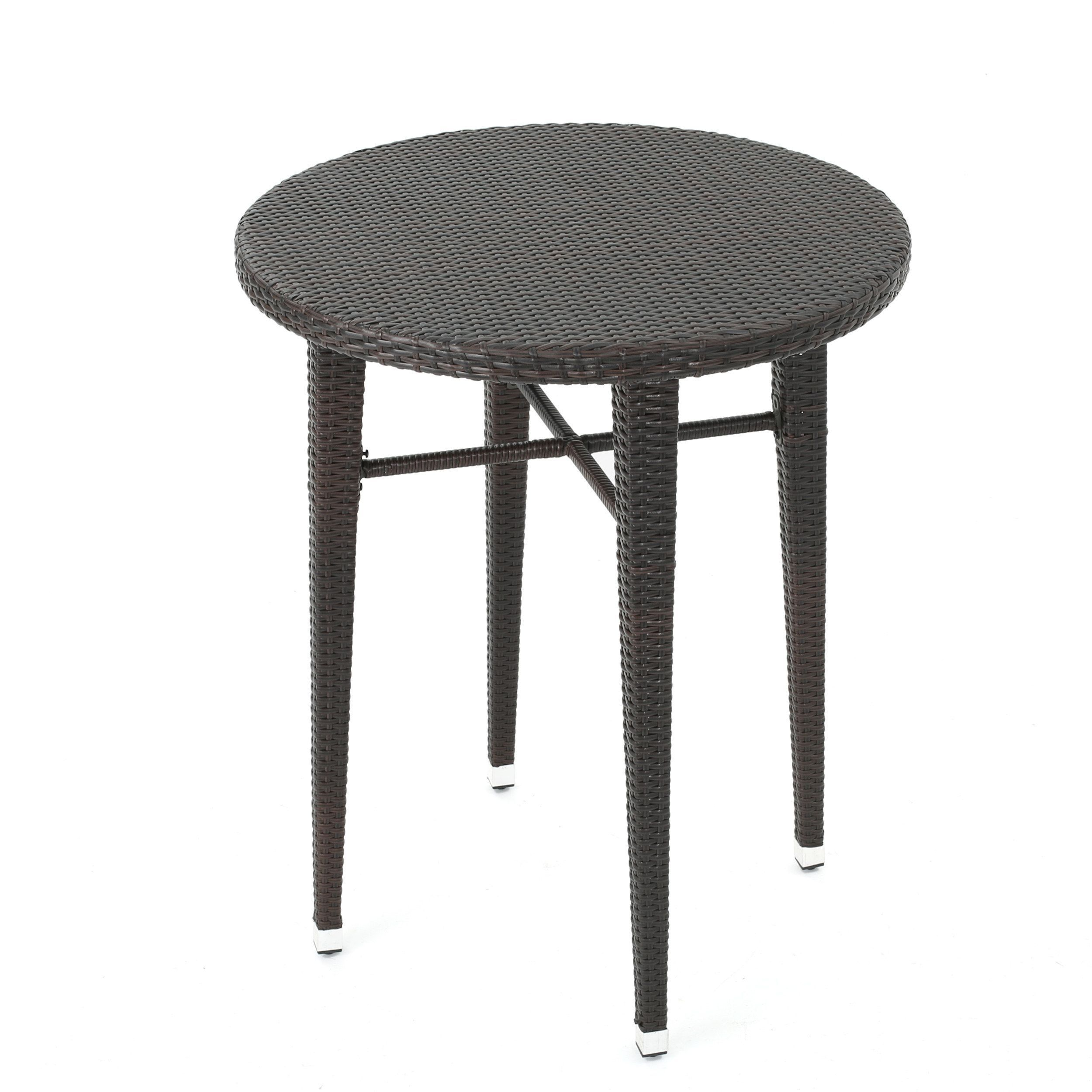 Dominica Outdoor 32-inch Round Wicker Bar Table by Christopher ...