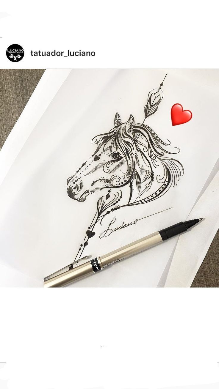 Horse art tattoo || Horse tattoos || Horse tattoo ideas || Horse lover || Horse || Horses || Equine || Equestrian || Cowgirl  #horse #horse #horsetattoo #dreamcatchertattoo #horse #horses #horsetattoos #horsetattooidea #cowgirl #nativeamerican #tribe #equine #equestrian #equestrianart…