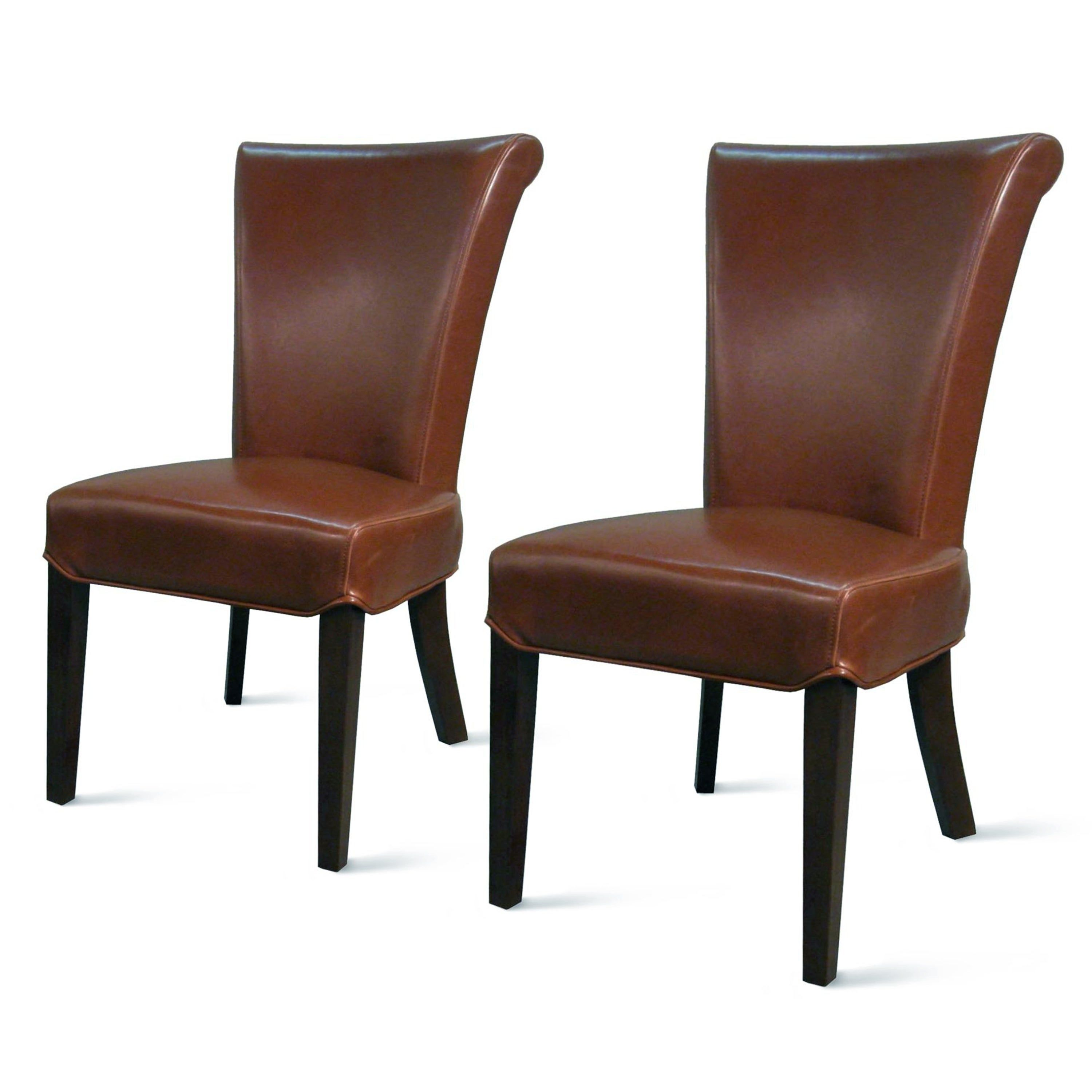 leather parsons chair on Bentley Bonded Leather Chair Set Of 2 Na In 2021 Dining Chairs Leather Dining Chairs Dining Chair Set