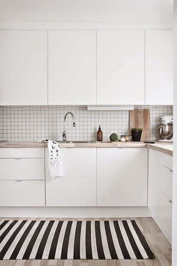 ideas-deco-como-decorar-cocinas-blanco-negro | Cocinas | Pinterest ...