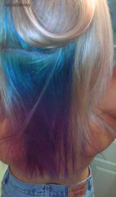 If I Ever Dye My Hair Blonde Deff Doing This Underneath Blue
