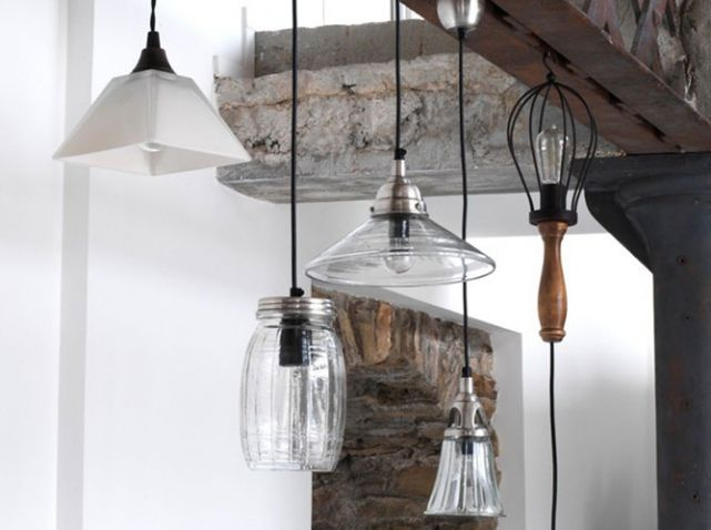 Suspension verre HIPSTER Pinterest