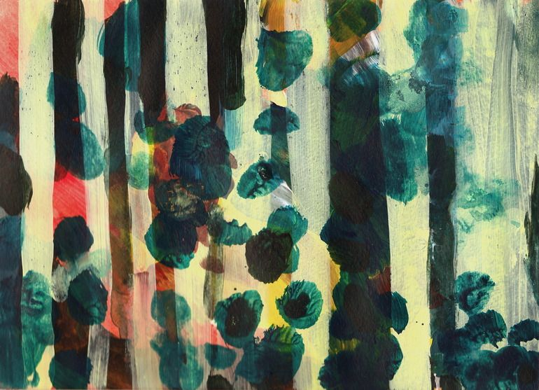 """Saatchi Online Artist: Greta Taxis; Acrylic, 2011, Painting """"JUNGLE SOUNDS"""""""