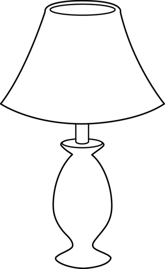 Lamp Outline Png 338 550 Lamp Clipart Black And White Easy Sewing