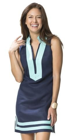 59067e10a97 Sail to Sable Classic Sleeveless Dress in Peacote Blue by Sail to Sable  from THE LUCKY