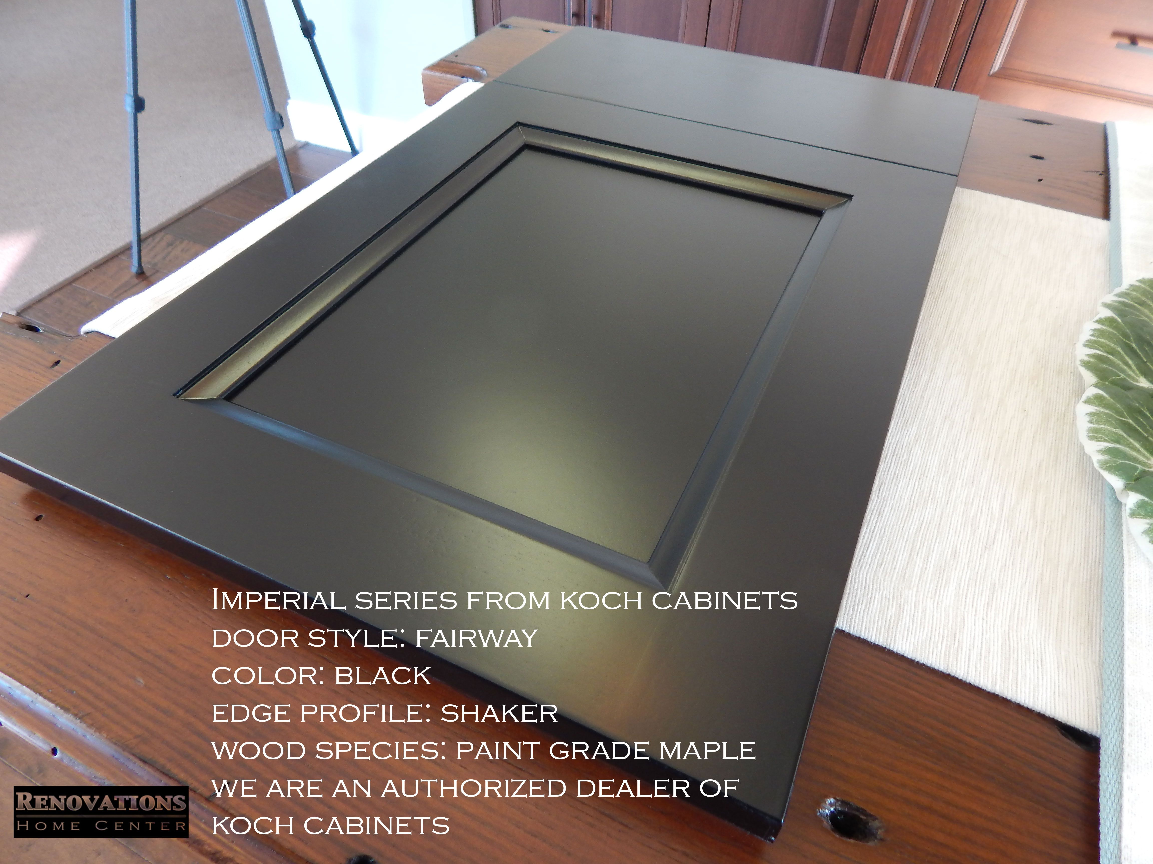 Imperial Series From Koch Cabinets Door Style Fairway Color Black Edge Profile Shaker Cabinet Door Styles Wood Species Kitchen Cabinets In Bathroom