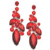 Ruby red crystal chandelier earrings elegant formal jewelry 2018 ruby red crystal chandelier earrings elegant formal jewelry aloadofball Choice Image