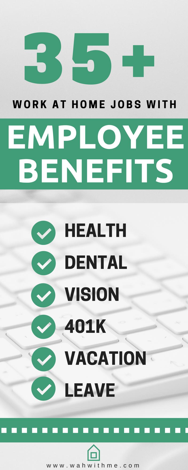 Remote Jobs with Employee Benefits (Huge List of Companies | Job ...