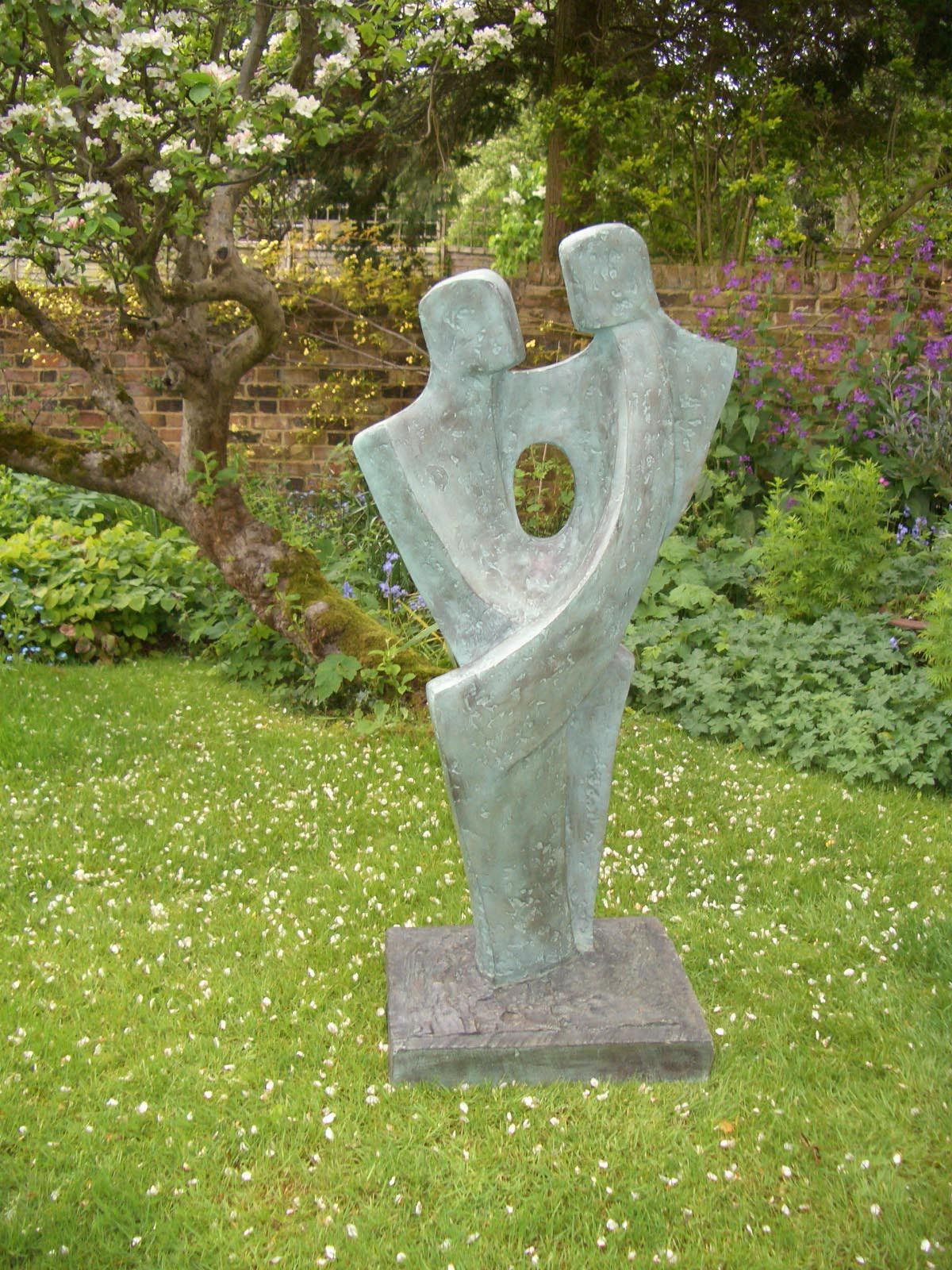 amour vi garden sculpture by john brown in bronze resin price garden sculpture for sale uk
