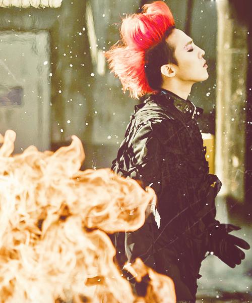 G Dragon Red Hair Monster