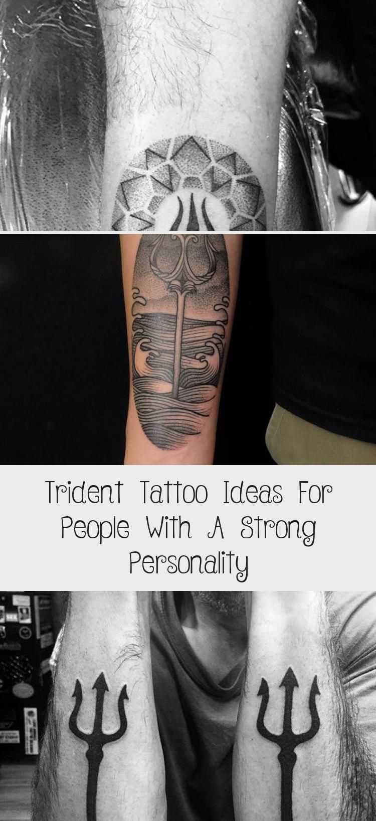 Trident Tattoo Ideas For People With A Strong Personality - tattoo body art  #Art #beingstrongtattoo #Body #ideas #people #Personality #Strong #tattoo #Trident