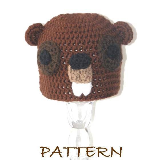 94a3fd4c91d PDF - Baby Beauregard the Beaver Crochet Critter (Animal) Hat - 3 sizes ( preemie to 6 months).  6.95