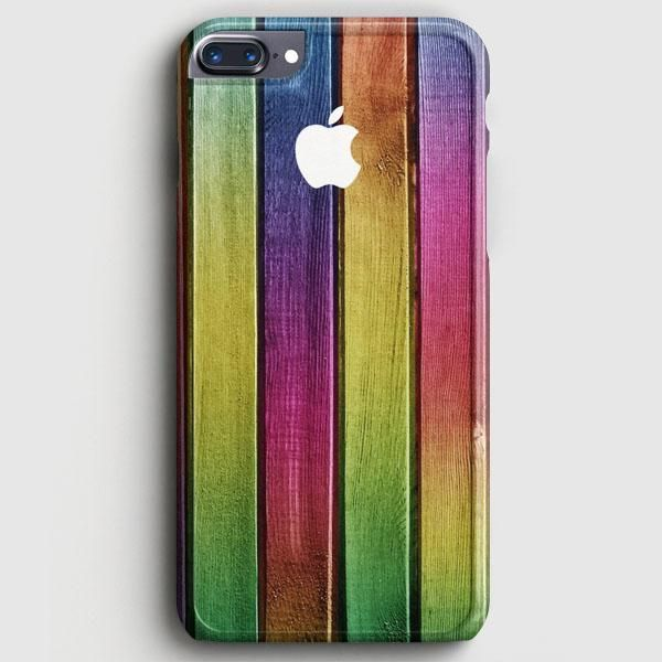 Colorful Wood Background iPhone 8 Plus Case   casescraft