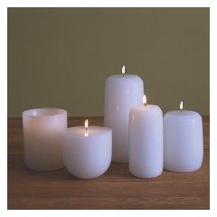 Luminary White Pillar Candle  5cm Buy Now At Habitat Uk