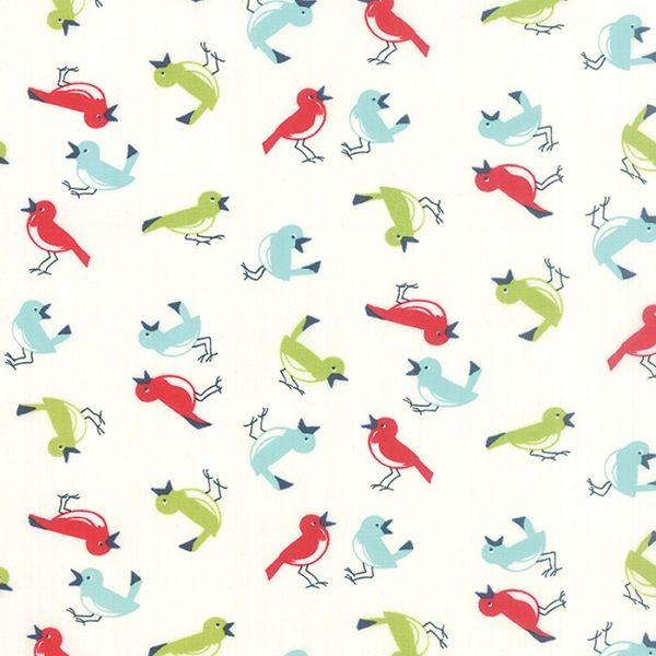 Resultado de imagen de vintage fabric birds