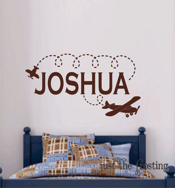 Airplane Wall Decal Personalized Name Kids Wall Decals Plane - Personalized custom vinyl wall decals for nurserypersonalized wall decals for kids rooms wall art personalized