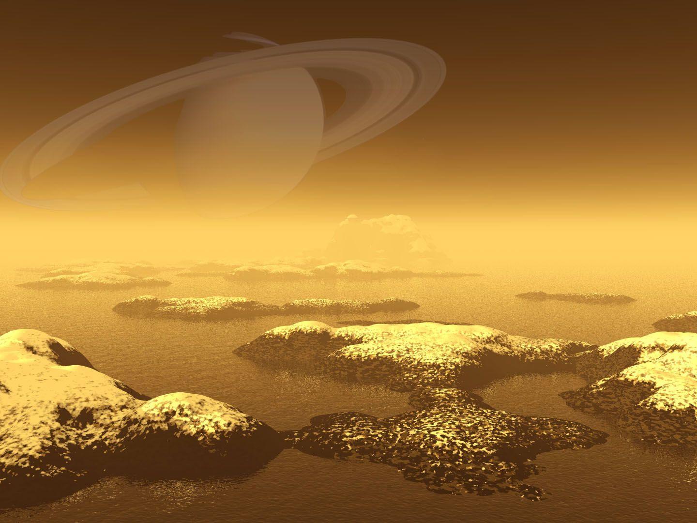 Barco Em Tita Saturno Planetas Astronomia
