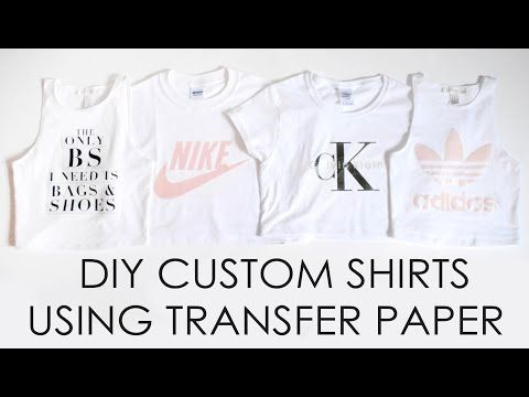 Easy Custom DIY Shirts // Transfer paper // First experience