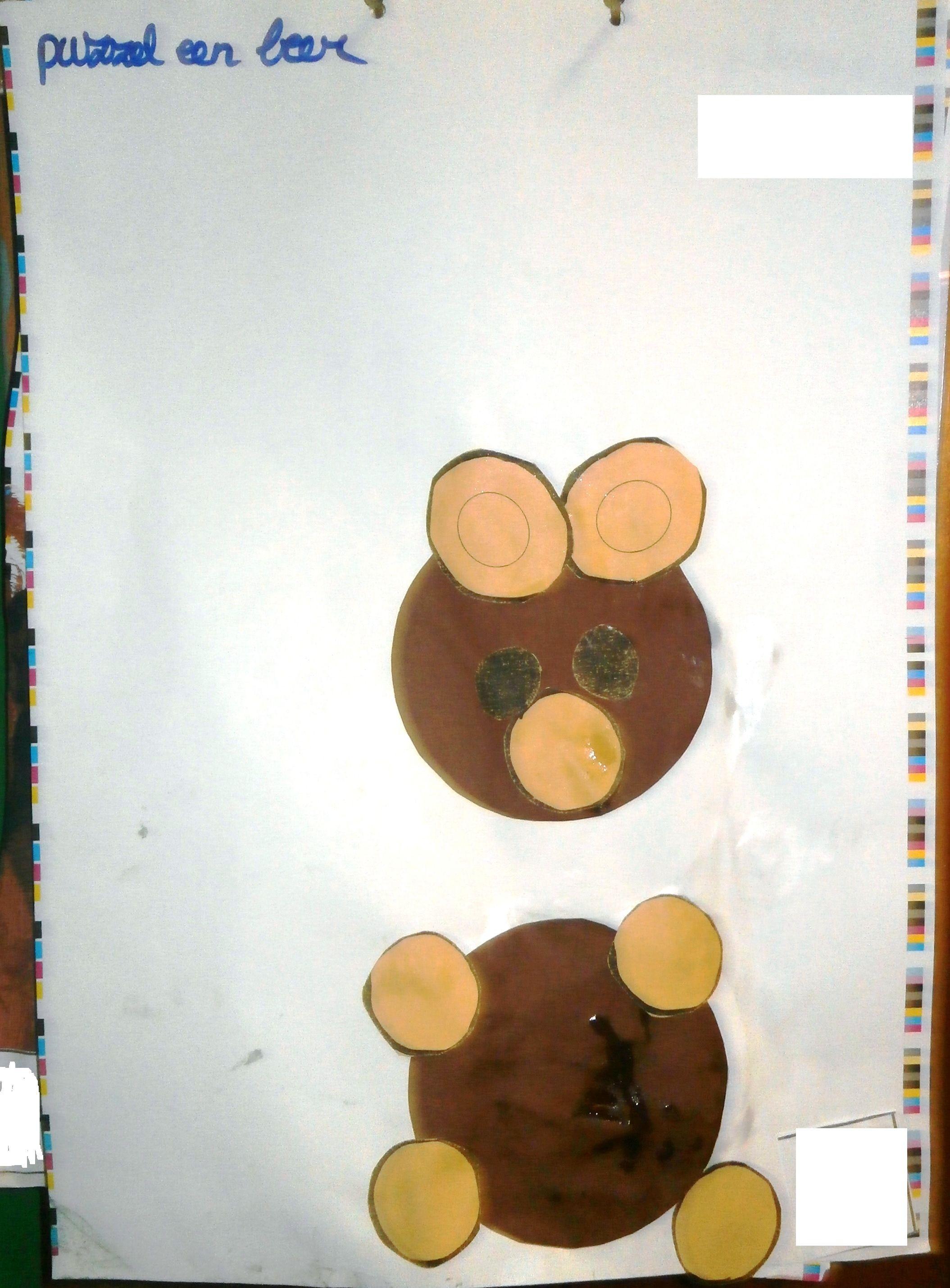 SPWB Puzzel een beer met cirkels.