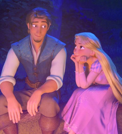 Sweet Rapunzel And Eugene Bonding Disney Couples Disney Tangled Flynn Rider And Rapunzel