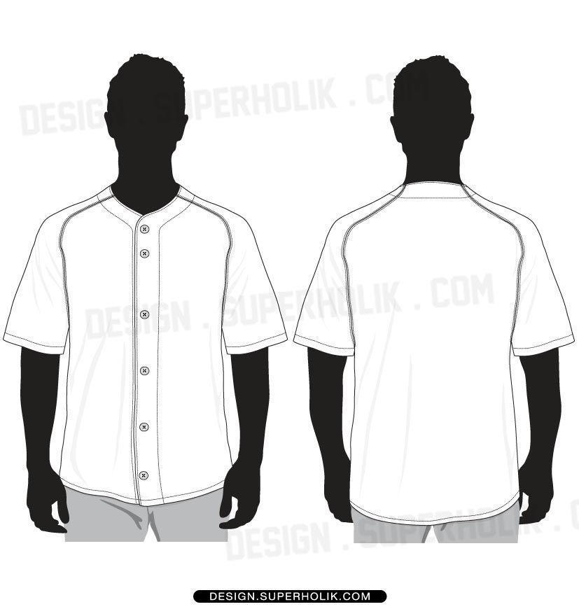 baseball jersey shirt vector template | menswear | Pinterest