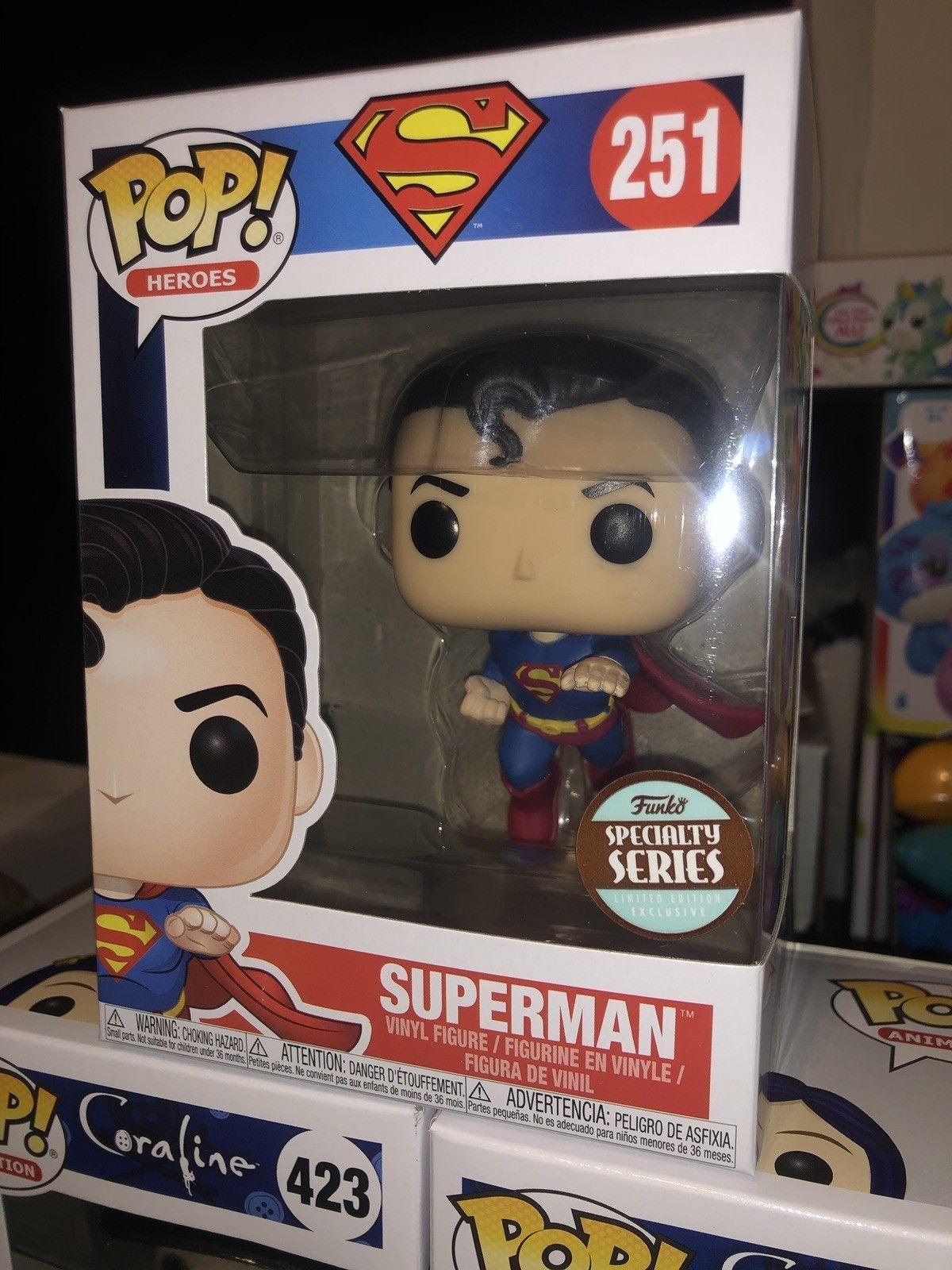 Funkopop Heroes Superman Flying Superman 80th Speciality Series Pop Vinyl Vinyl Sales Vinyl