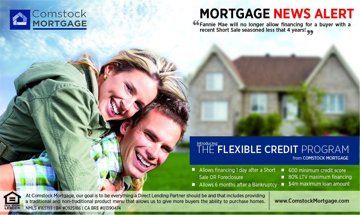 Comstock mortgage understands the situation that many