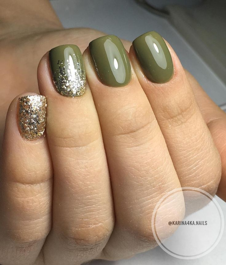 74+ Nail Polish Khaki Green FunNailArt