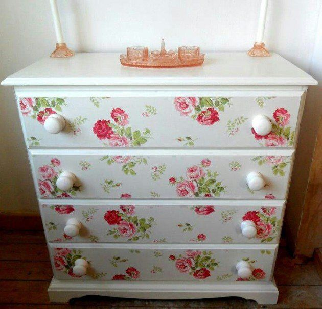 25 Amazing DIY Furniture Makeovers With Wallpaper DIY furniture