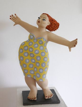 Gartenkeramik-Figur Tanzende Mehr | Figur, Gartenkeramik
