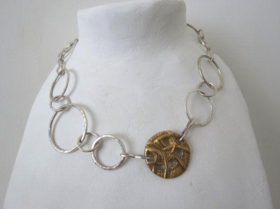 Collana a maglie in argento di Loreart74 su Etsy