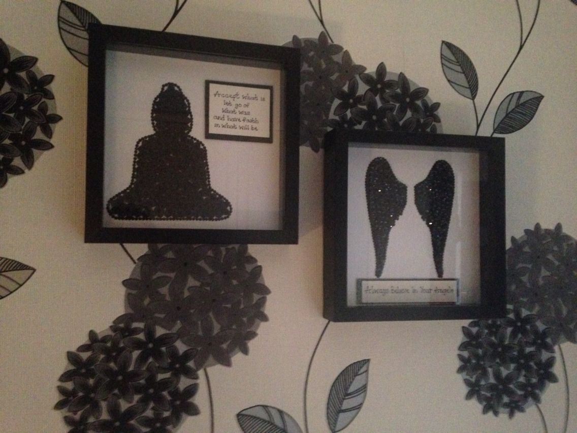 Buddha angel wings button sequin frames my box frames buddha angel wings button sequin frames jeuxipadfo Image collections