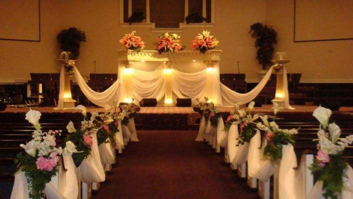 Pink And Black Table Centerpieces Small Church Wedding