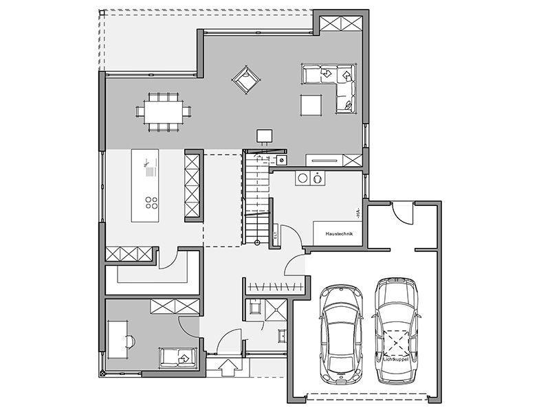 Bauhaus-Villa Bild 243 | planos in 2019 | Haus bauen, Haus ...