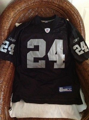 size 40 6ceee 3f955 Oakland Raiders NFL Charles Woodson #24 reebok jersey size M ...
