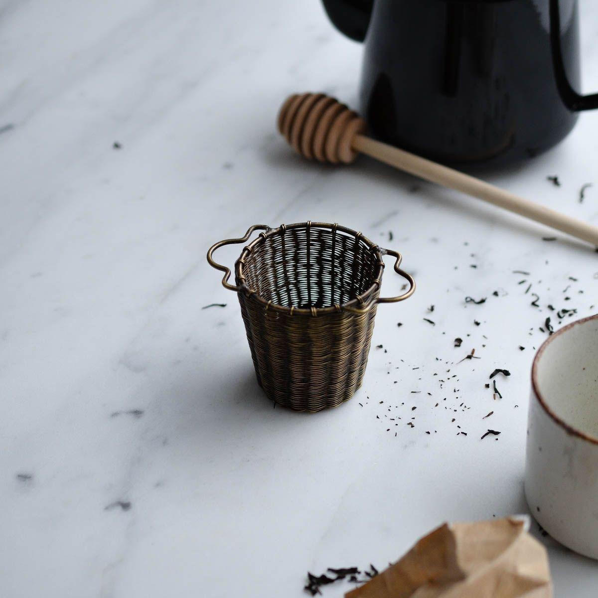 Brass tea strainer basket in 2020 Tea strainer, Tea