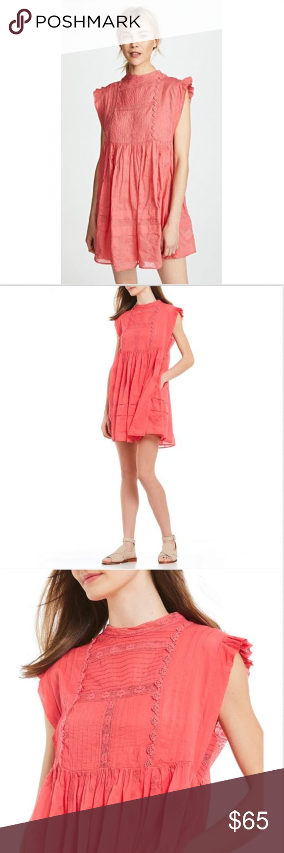 05af9e243239 FREE PEOPLE NOBODY LIKE YOU CORAL MINI DRESS XS This dress is in excellent  condition,