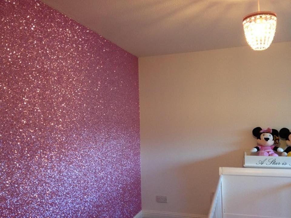 Pink Glitter Walls Glitter Wallpaper Bedroom Glitter Bedroom