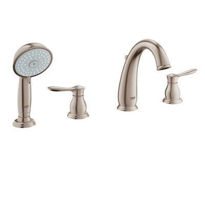 Grohe Parkfield Double Handle Widespread Roman Tub Faucet With