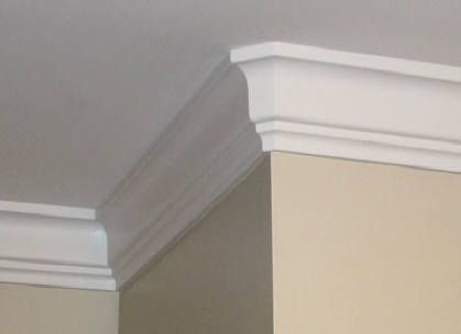 Foam Crown Molding Pictures Photos Install Crown Mouldings Crown Molding Solutions Foam Crown Molding Crown Molding Moldings And Trim