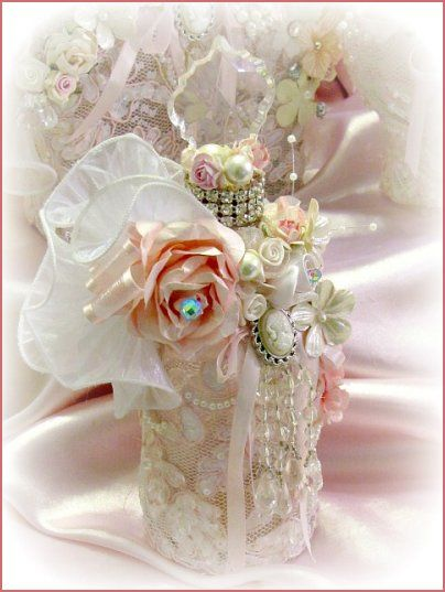 Regency Elegance Pink Beaded Potion Bottles