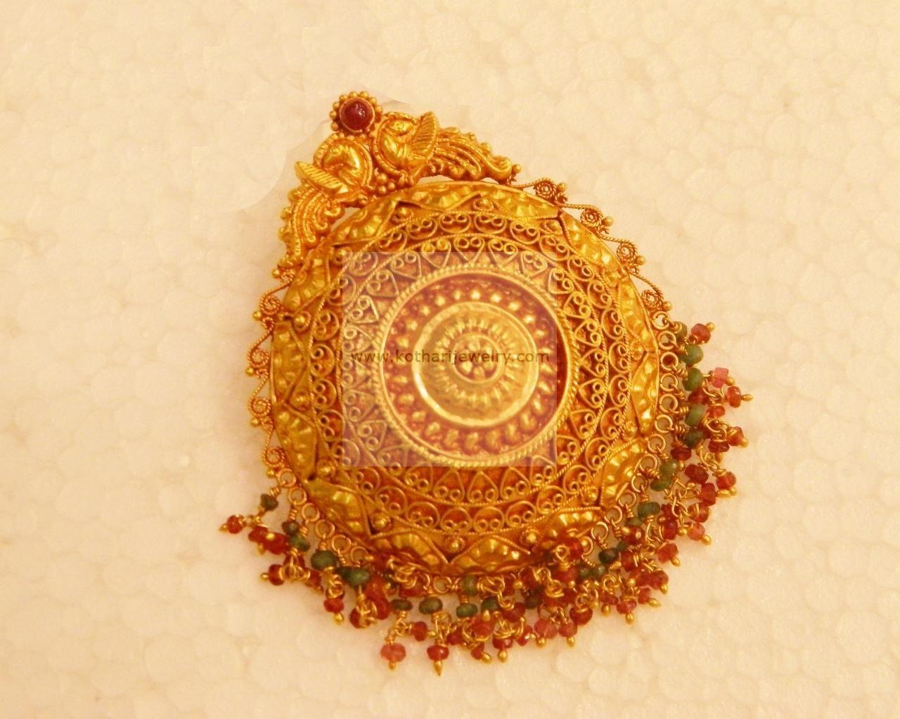 Nakshi pendant locket kt gold pendal aabharan pinterest