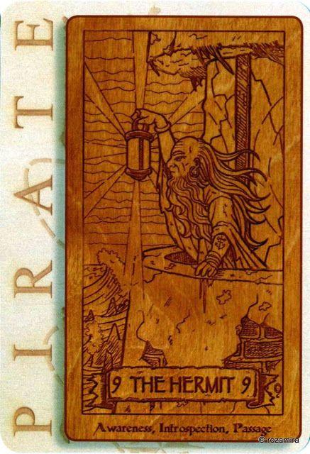 IX. The Hermit - Pirate Tarot by Liz Harper, Carrie Amodio