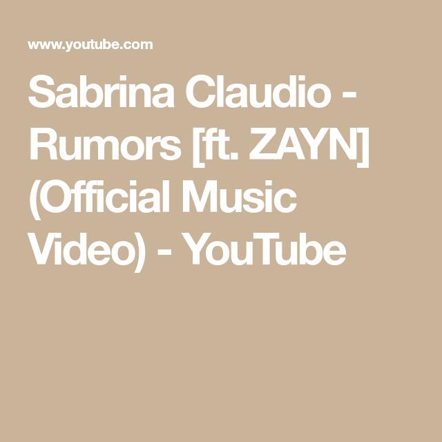 Sabrina Claudio - Rumors [ft. ZAYN] (Official Music Video) - YouTube #sabrinaclaudio