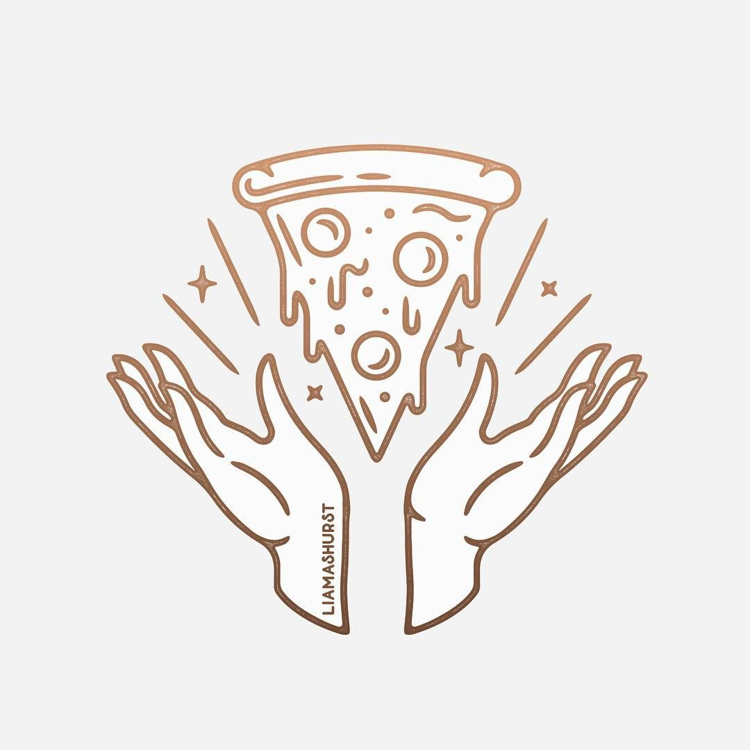 "Liam Ashurst on Instagram: ""Sold! 🍕 I'm 100% ready to eat all the pizza in Florence this weekend. Here's a little design to keep me going until then!"""