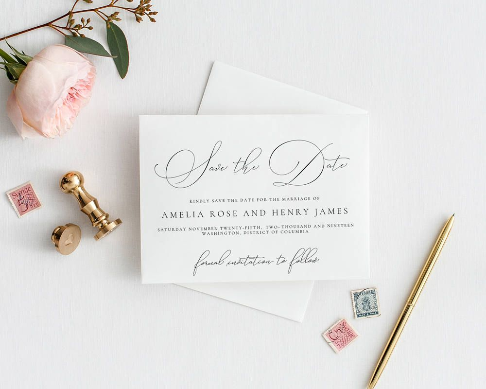 editable classic save the date announcement template pdf jpeg