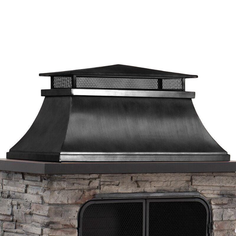 Quillen Steel Wood Burning Outdoor Fireplace in 2020 ... on Quillen Steel Wood Burning Outdoor Fireplace id=68870