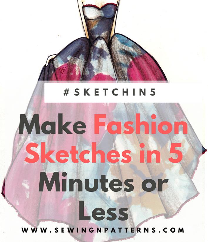 Fashion Sketching Made Easy 5 Minute Fashion Sketches Sketchin5 Fashion Sketches Fashion Illustration Vintage Fashion Illustration Tutorial