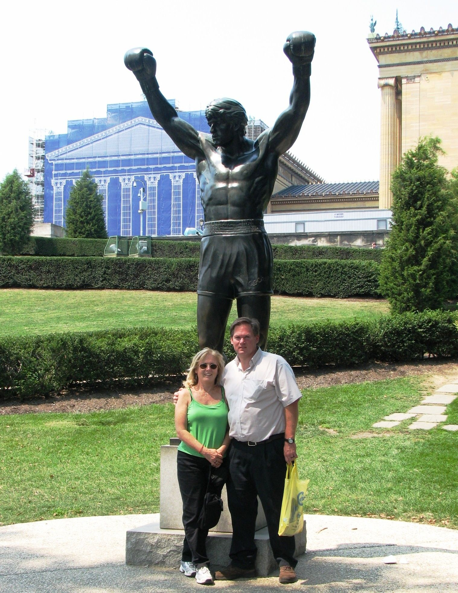 Rocky Statue in front of Philadelphia Museum of Art.